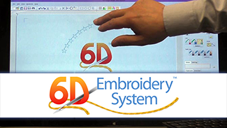 6D™ Embroidery - Gestures on a Touchscreen