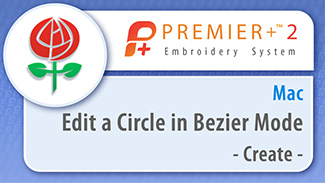 Edit a Circle in Bezier Mode