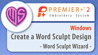Create a Design with Word Sculpt